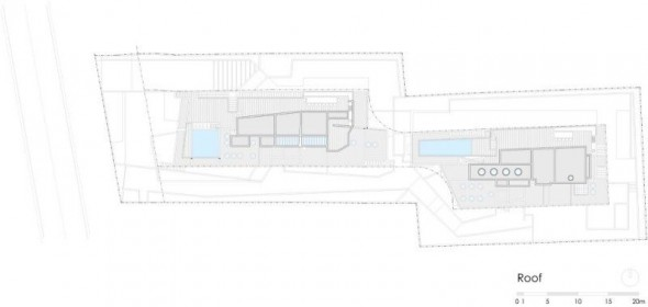 roof plan - Ignacia Apartments Gonzalo Mardones Viviani Architects