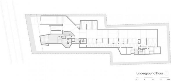 underground plan - Ignacia Apartments Gonzalo Mardones Viviani Architects