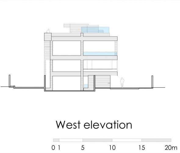 west elevation - Ignacia Apartments Gonzalo Mardones Viviani Architects