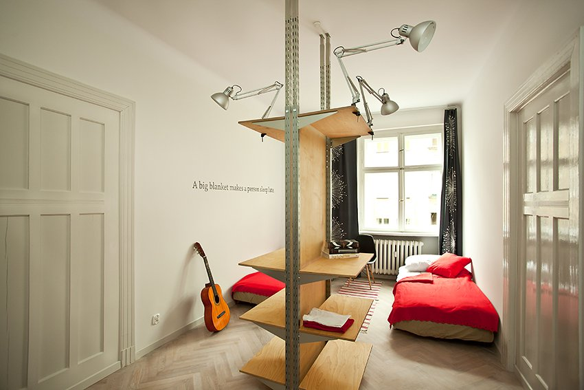 Small Polish Apartment Designs - Modern Lamp