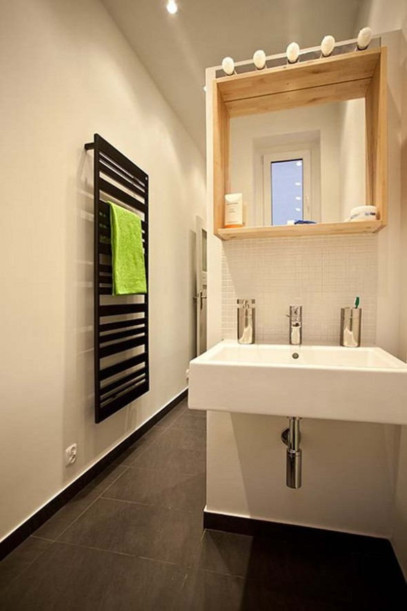 Washbasin in Bathroom - Small Polish Apartment Designs