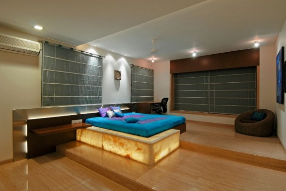 Modern Bedroom - Bangalore Duplex Apartment