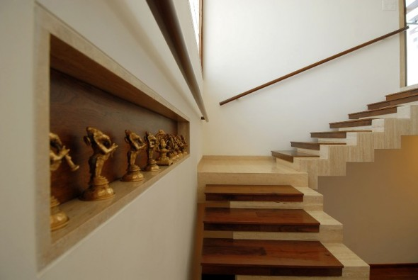 Unique Stairs - Bangalore Duplex Apartment