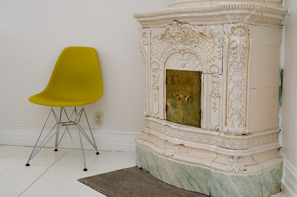 Linnestaden Apartment - Fireplace
