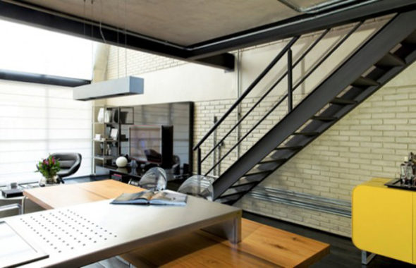 Stairs Square Meter Loft in Sao Paulo